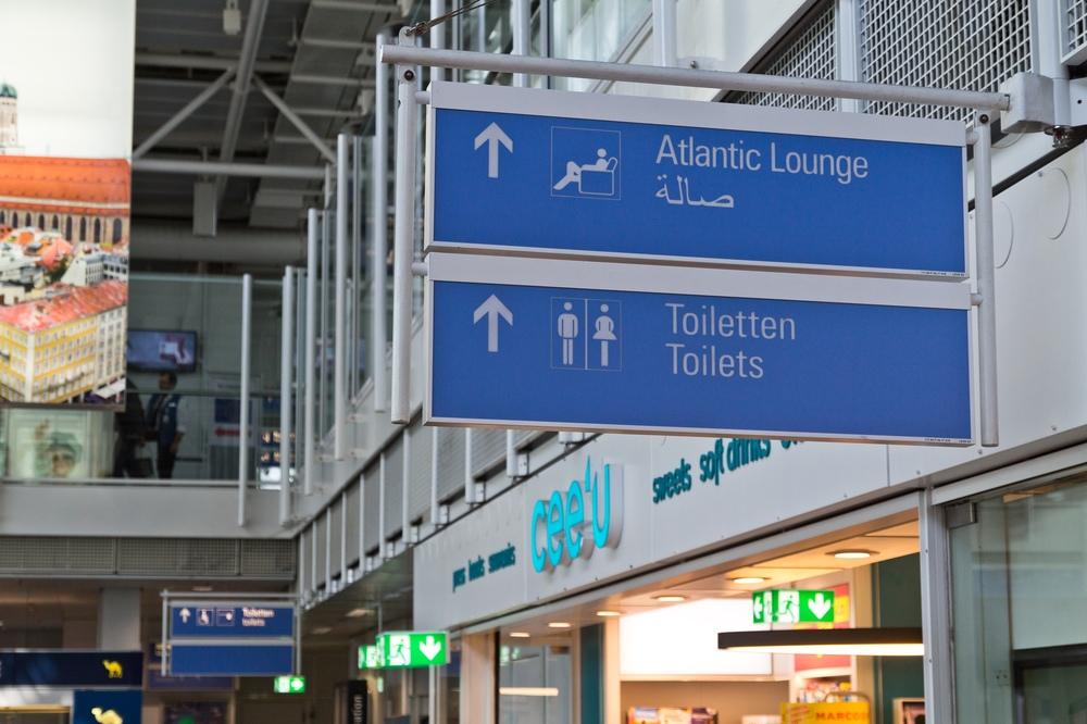 Flughafen München Atlantic Lounge Schild