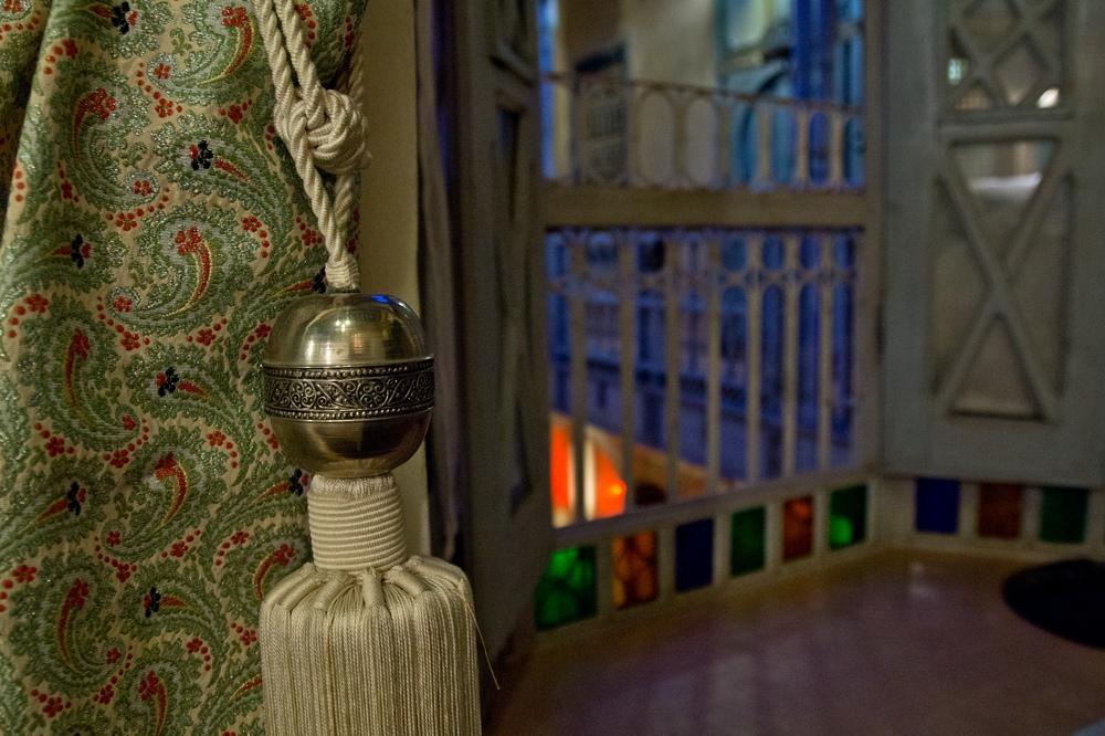 Riad Armelle Hotel Marrakesch Fenster zum Innenhof