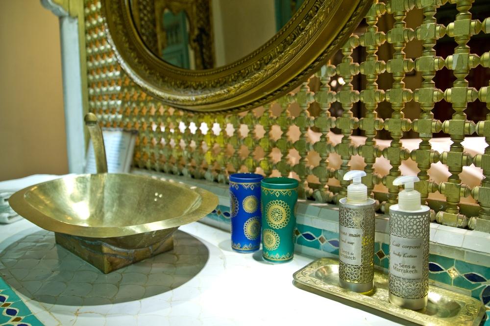 Riad Armelle Hotel Marrakesch Waschbecken