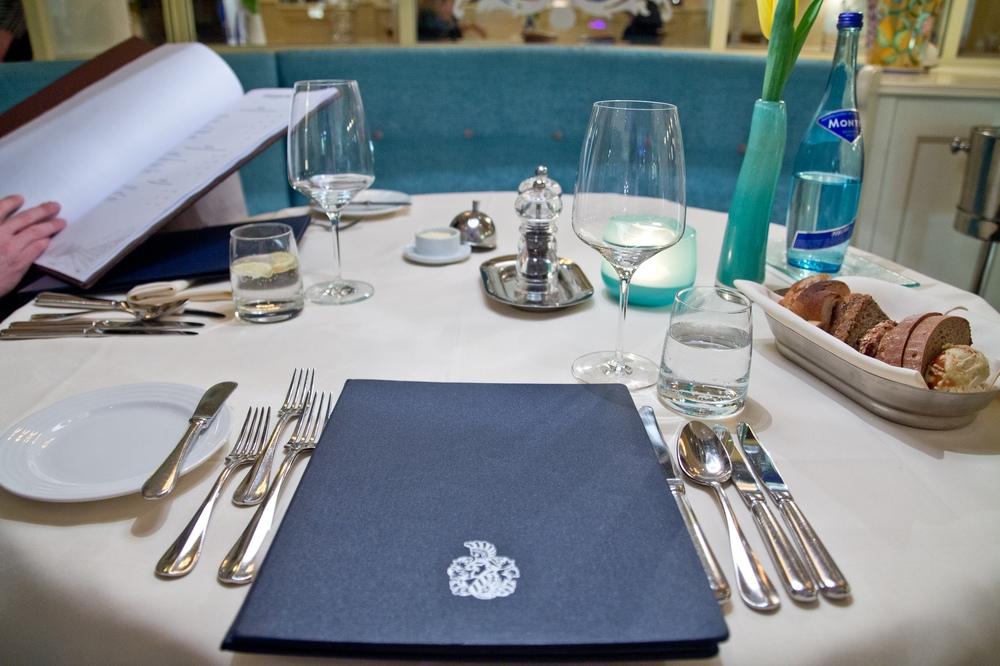 Abendessen Menü Diner Interalpen-Hotel Tyrol