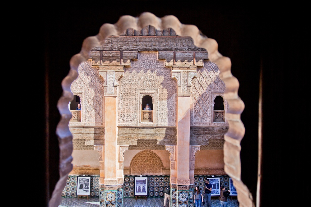 Innenhof Medersa Ben Youssef Marrakesch Sightseeing