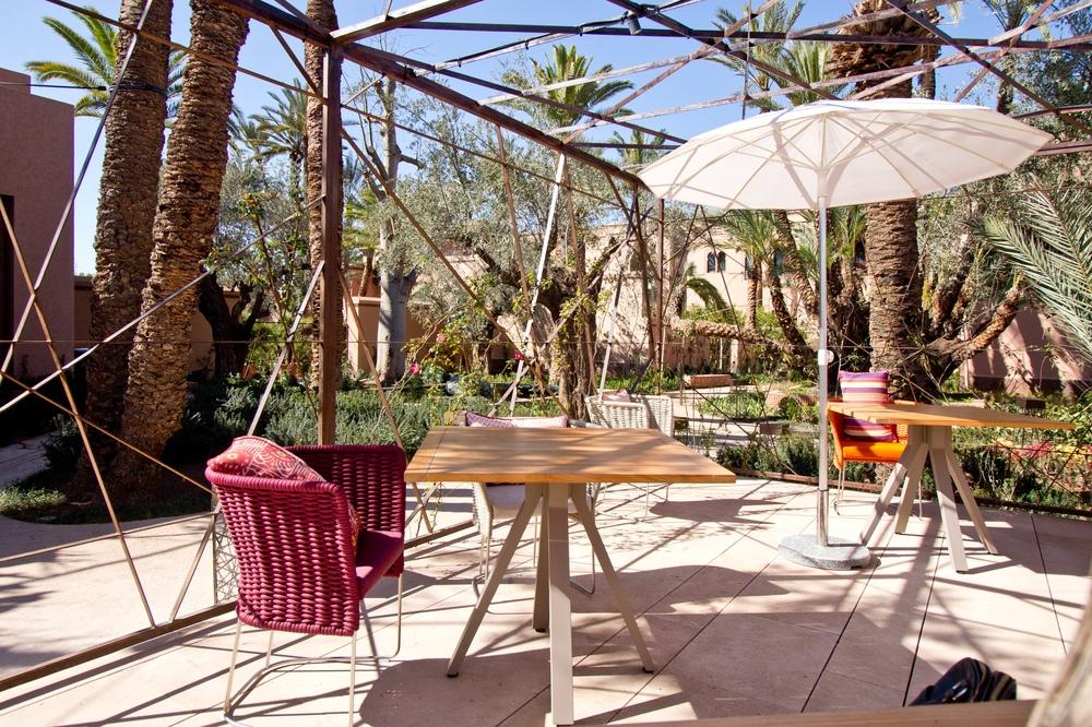 Restaurant Le Jardin Hotel Royal Mansour Marrakech