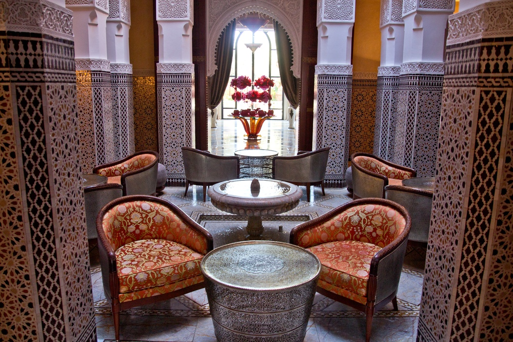 Innenhof Bar Hotel Royal Mansour Marrakech