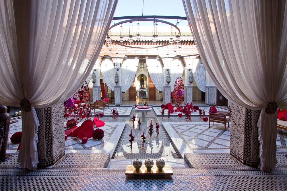 Dekoration Innenhof Hotel Royal Mansour Marrakech