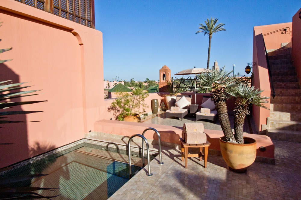Dachterrasse Pool Riad Hotel Royal Mansour Marrakech