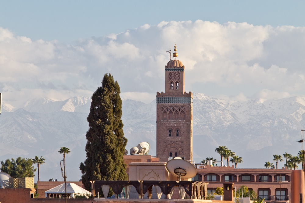 Koutoubia-Moschee Hoher Atlas Atlasgebirge