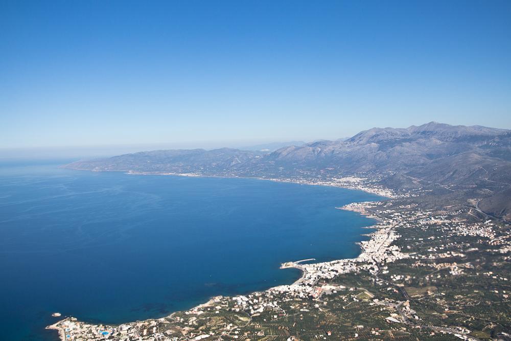 Insel Kreta Luftbild Luftaufnahme Küste Strand