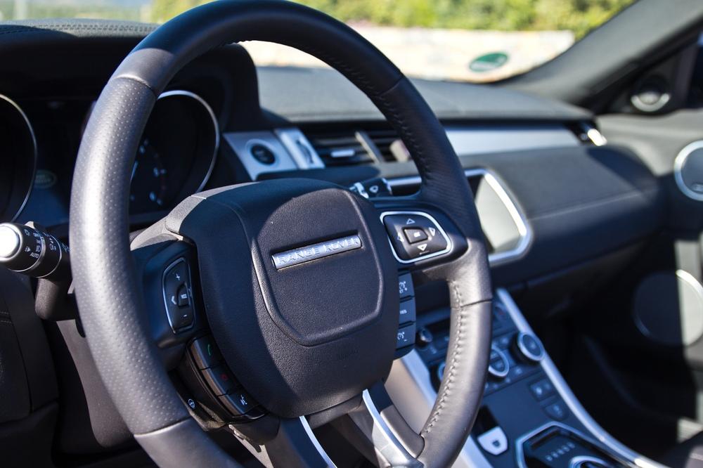 Lenkrad Innenraum Land Rover Range Rover Evoque Cabrio SUV