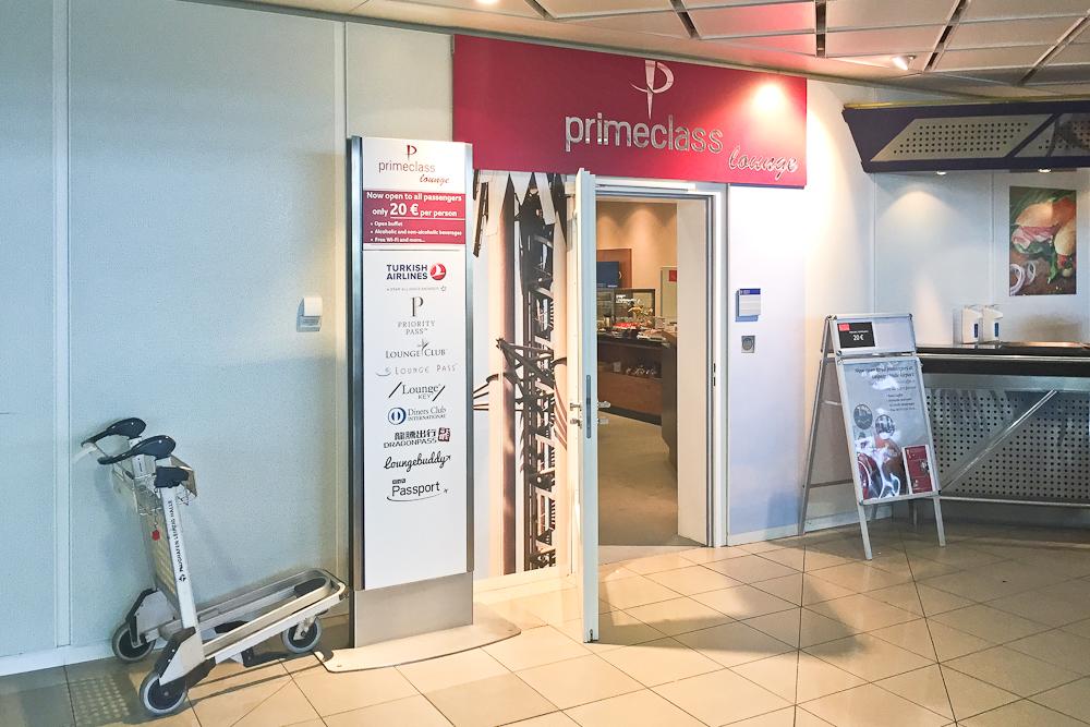 Primeclass Lounge Airport Leipzig Flughafen - Eingang Lounge