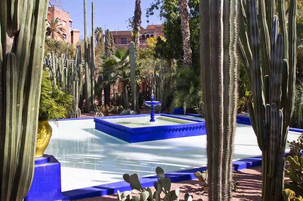 Marrakesch Jardin Majorelle Brunnen
