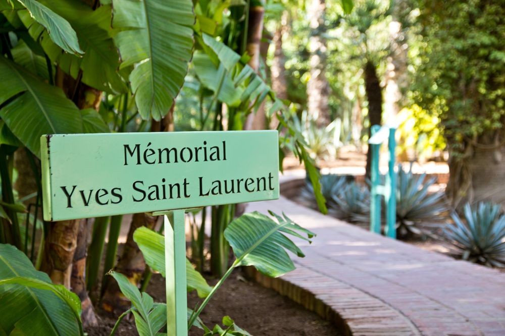 Marrakesch Jardin Majorelle Grab Yves Saint Laurent