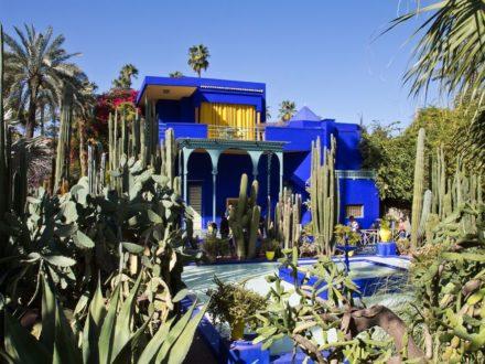 Marrakesch Jardin Majorelle Blaues Haus Blau