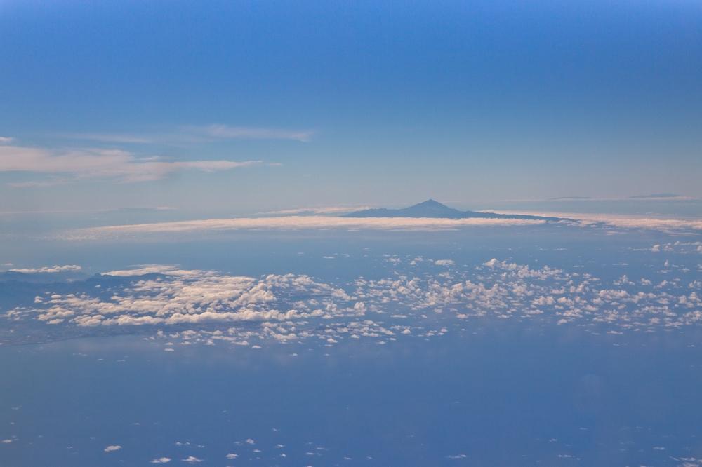 Pauschalreise Teneriffa Urlaub Teide Luftbild
