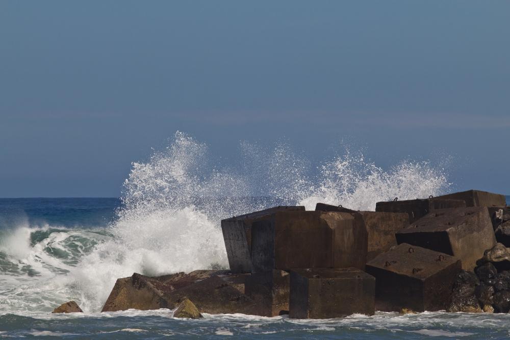 Teneriffa Puerto Cruz Wellen Strömung Urlaub Reise
