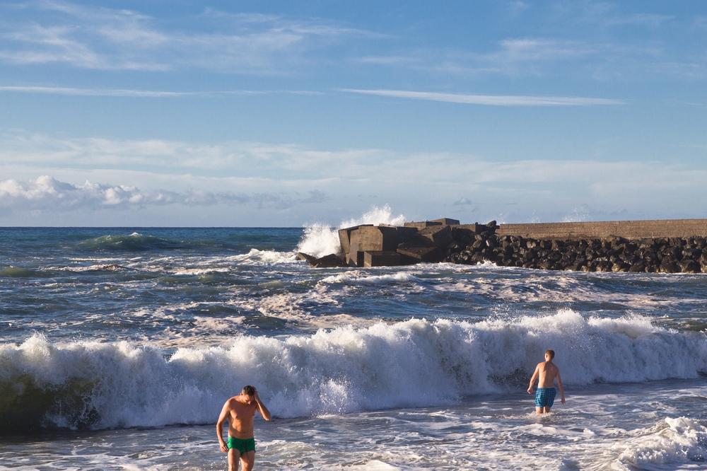 Teneriffa Puerto Cruz Sandstrand schwarz Urlaub Reise