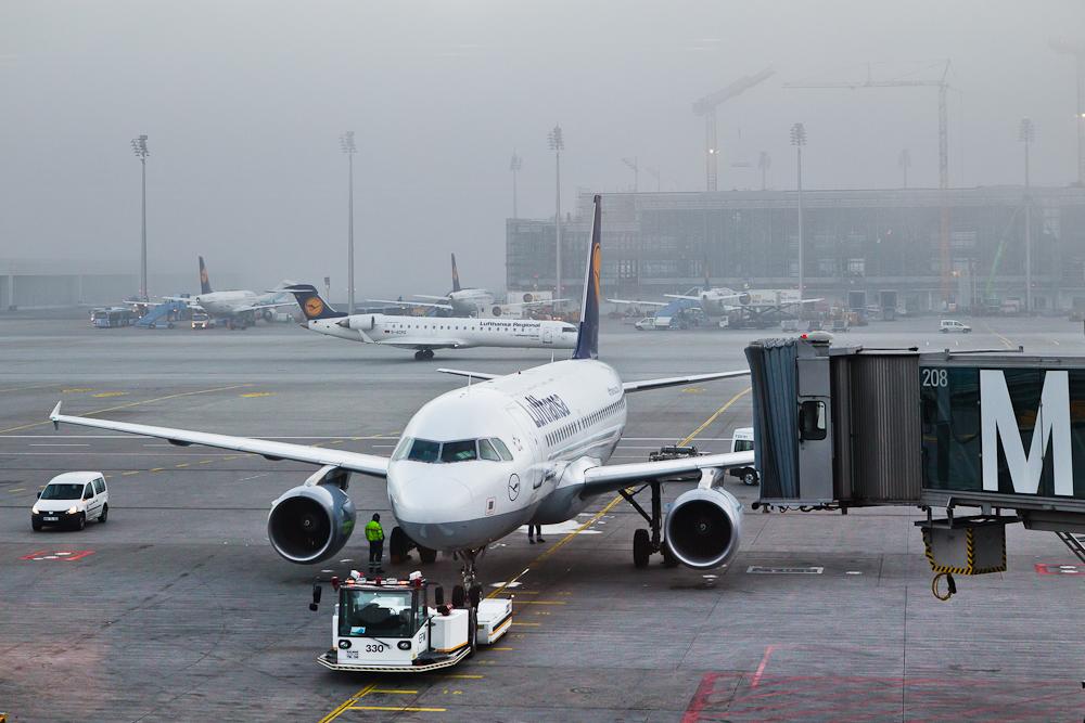 Reisebericht Oslo - Lufthansa Flugzeug am Flughafen München