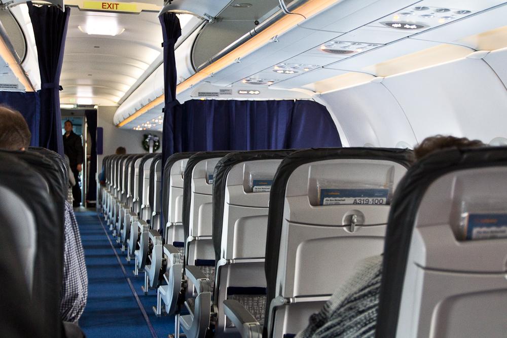 Reisebericht Oslo - Business Class Bestuhlung im Airbus der Lufthansa