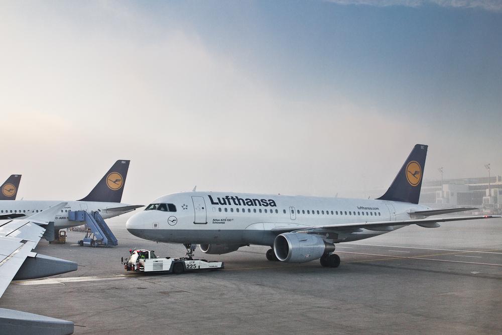 Reisebericht Oslo - Lufthansa Flugzeug am Airport München