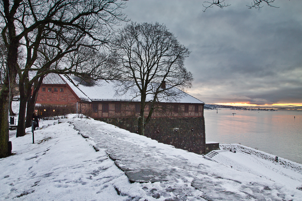 Aussicht Festung Akershus in Oslo