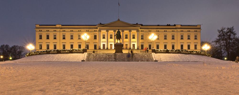 Königliche Schloss in Oslo Langzeitbelichtung