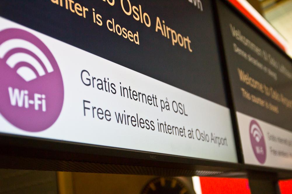 Kostenloses WLAN am Flughafen Oslo