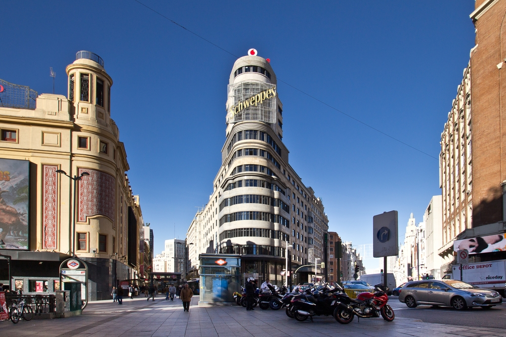 Plaza de Callao, Schweppes, Gran Vía Madrid