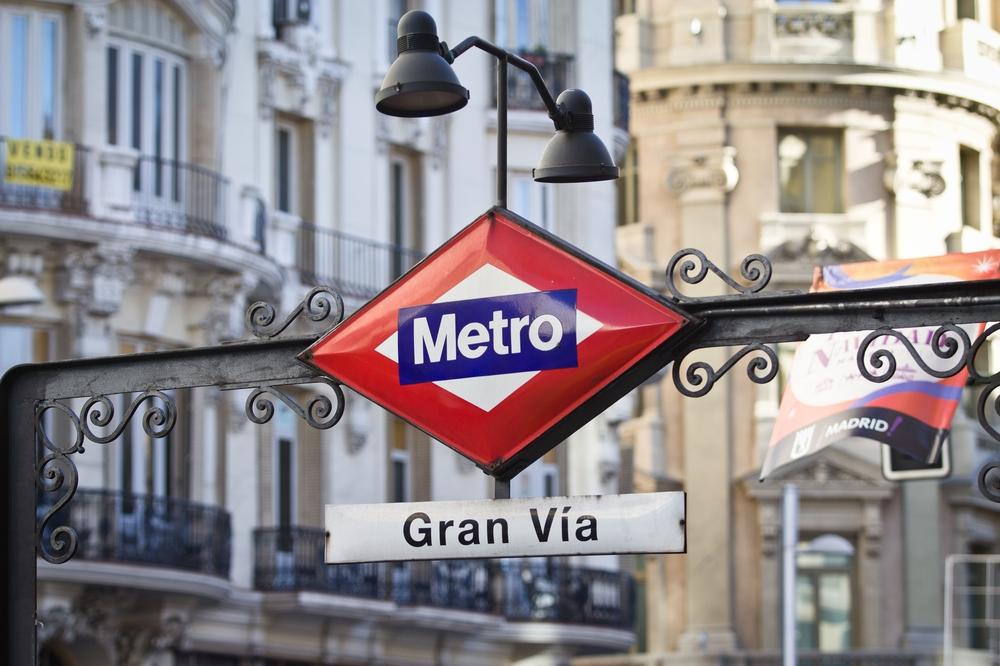 Metro de Madrid Schild Gran Vía