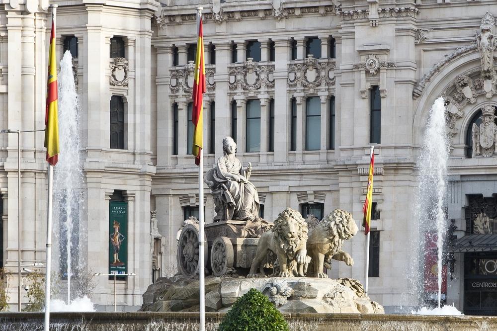 Fuente de Cibeles, Plaza de Cibeles in Madrid
