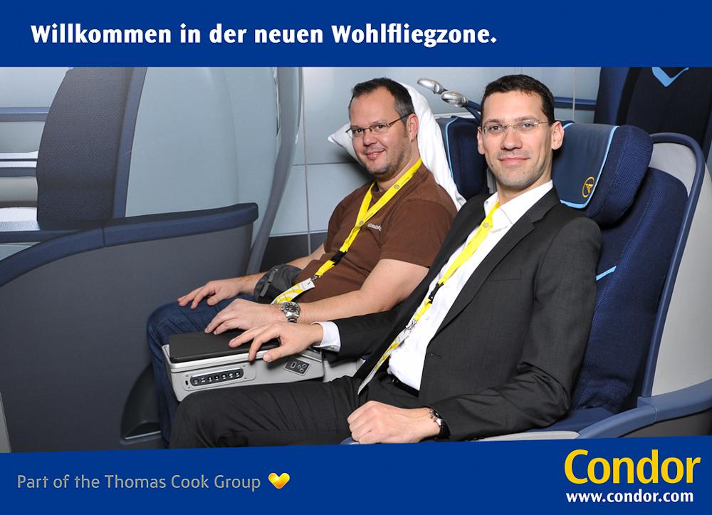 Sitzprobe & Fotoshooting bei Condor