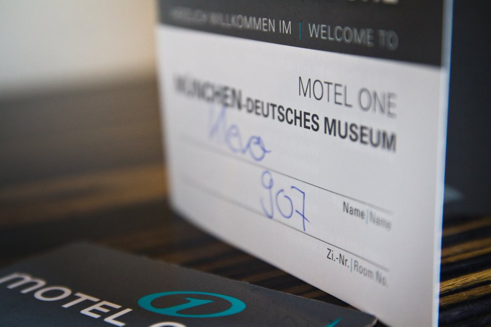 Zimmerkarte Design Hotel Motel One Deutsches Museum in München