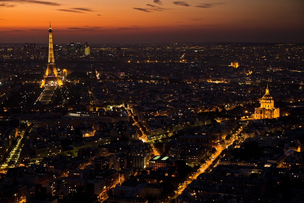 Paris Sonnenuntergang Tour Eiffel Les Invalides