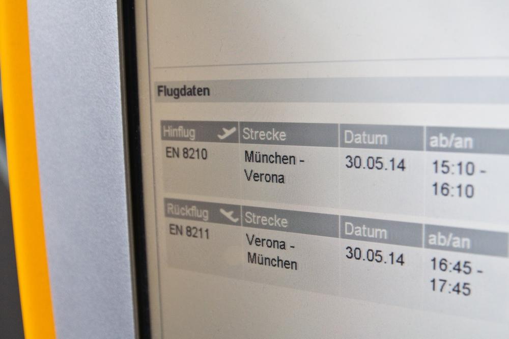 Lufthansa Check-In Automat Air Dolomiti