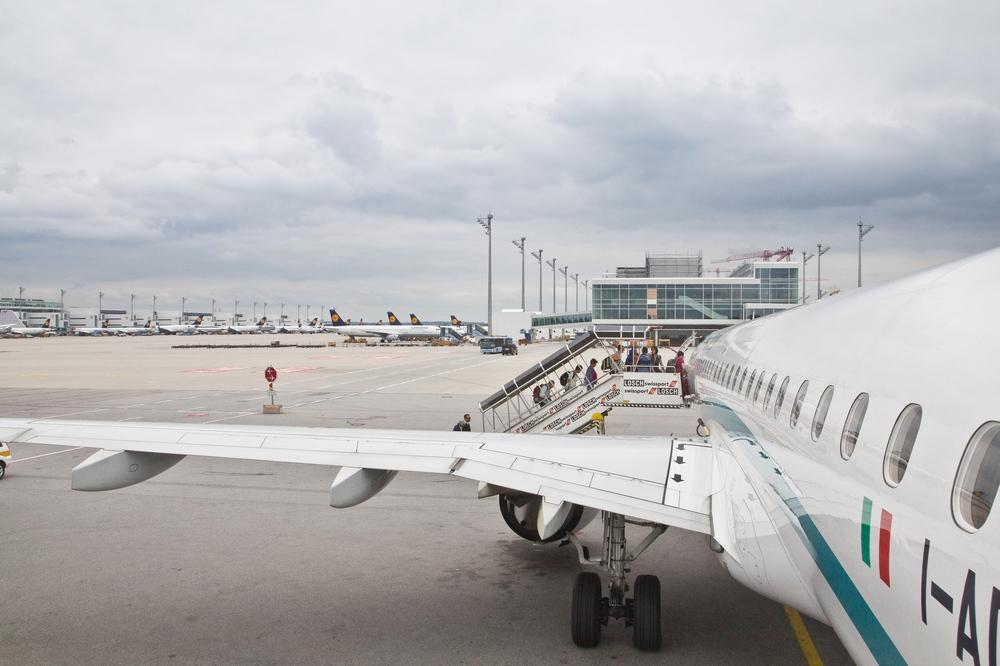 Boarding Vorfeld Flughafen München