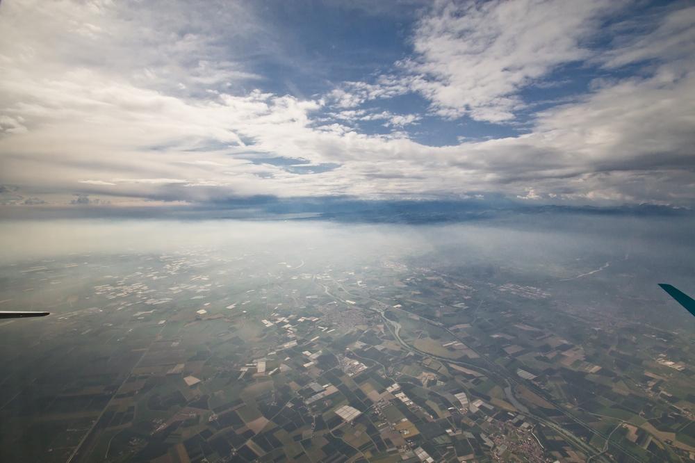 Luftbild Verona inflight Air Dolomiti