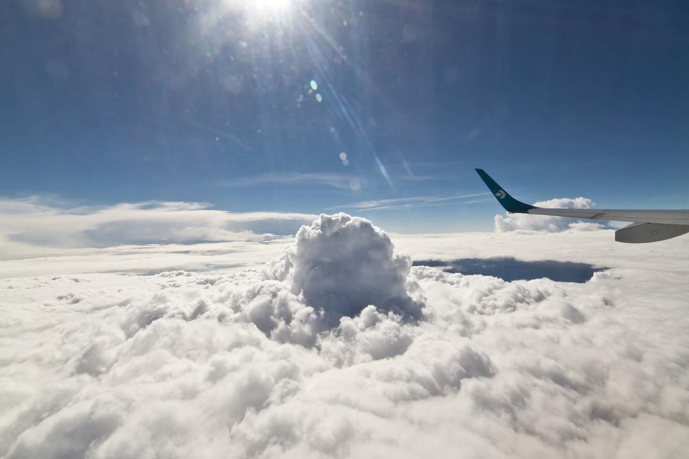 Wolken Flugzeug Air Dolomiti