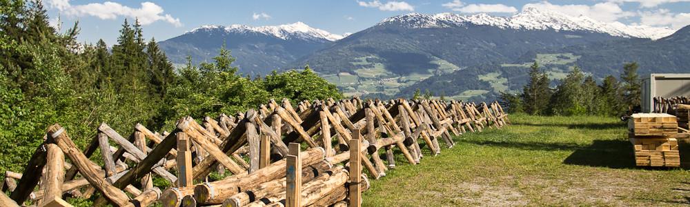 Naturpark Karwendel Holzstapel