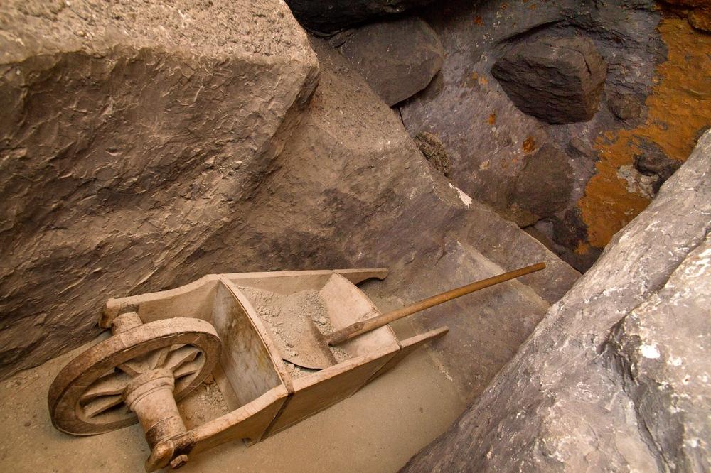 Stollen im Bergwerk Saline Hall