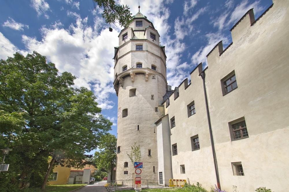 Turm Münzerturm Burg Hasegg Hall in Tirol