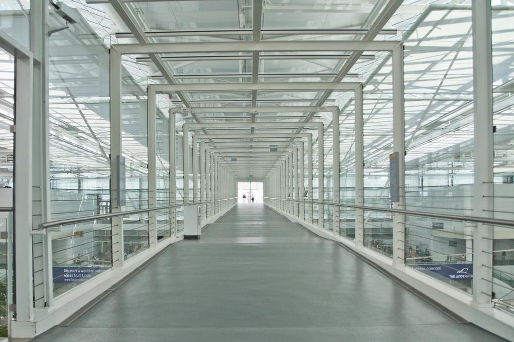Gang Flughafen Terrasse München