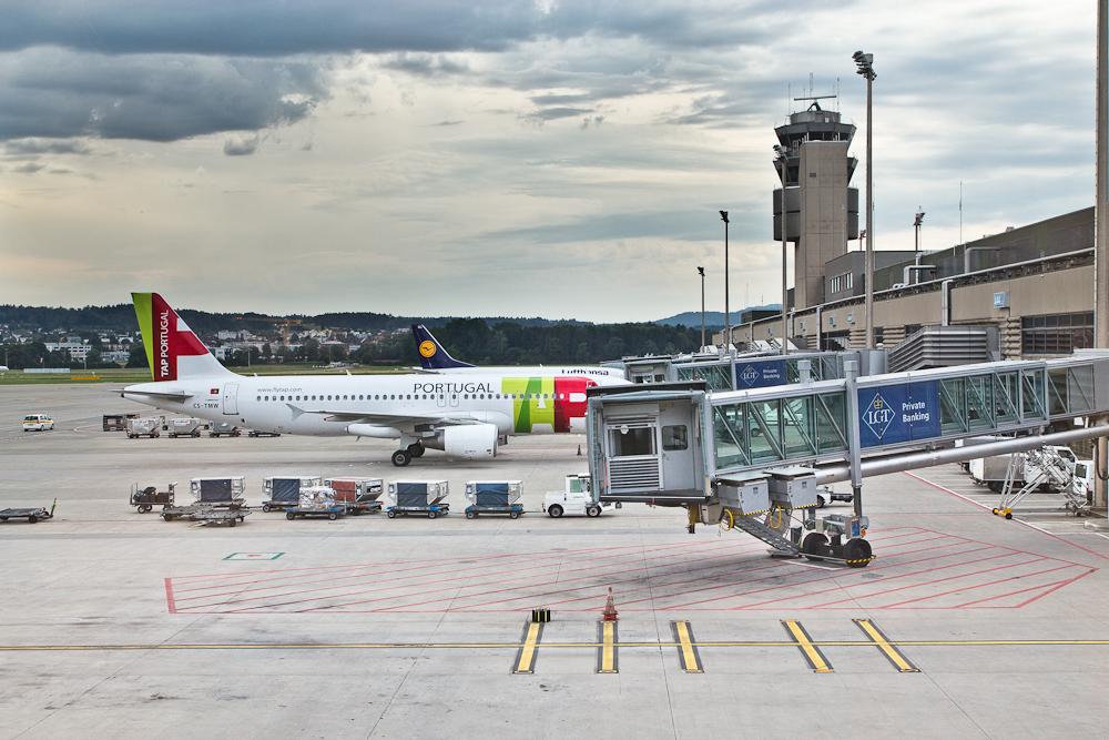 Vorfeld Flughafen Zürich