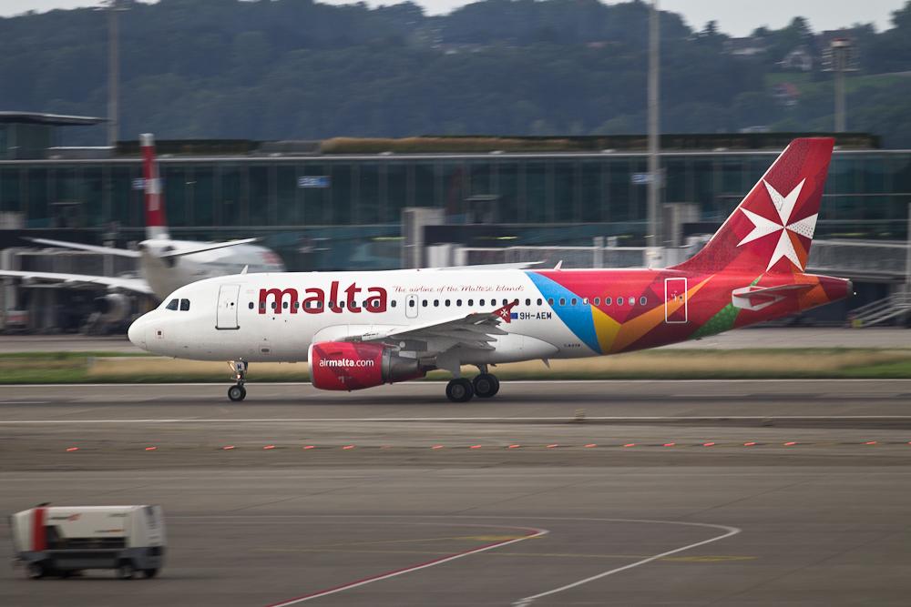 Air Malta Mitzieher Flughafen Zürich
