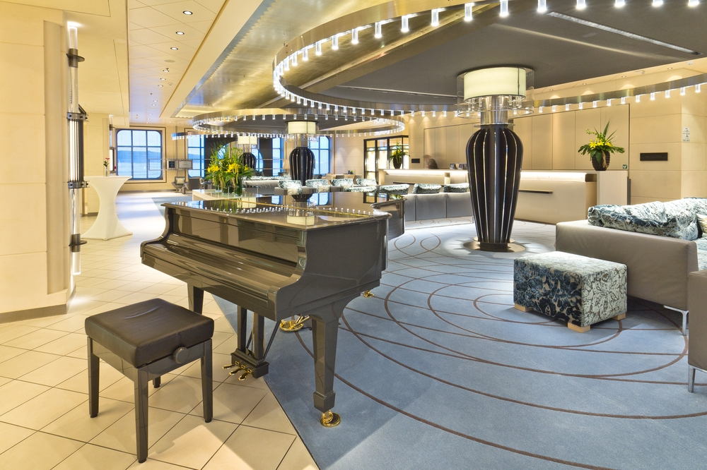 MS Europa 2 Interior Reception Lobby Piano