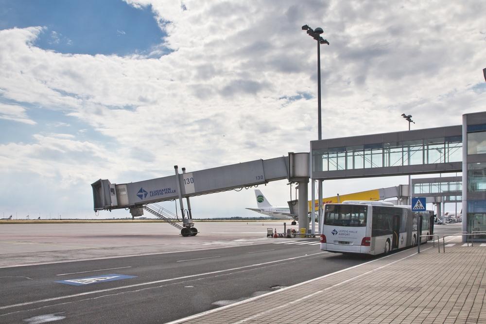 Finger Flugzeugbrücke Flughafen Leipzig