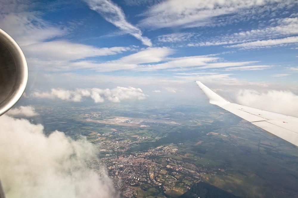 Anflug Flughafen München