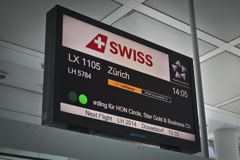 Flug Swiss München Zürich
