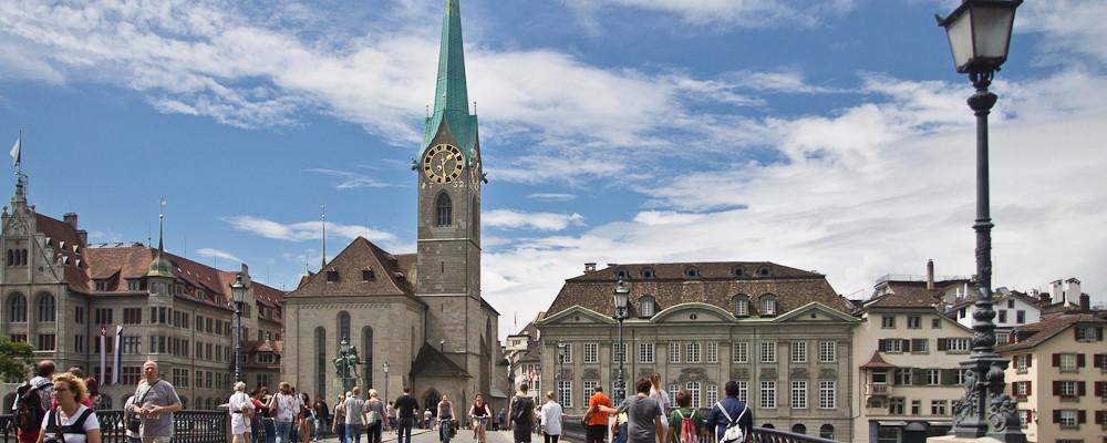 Zurich Fraumünster Sun Sky