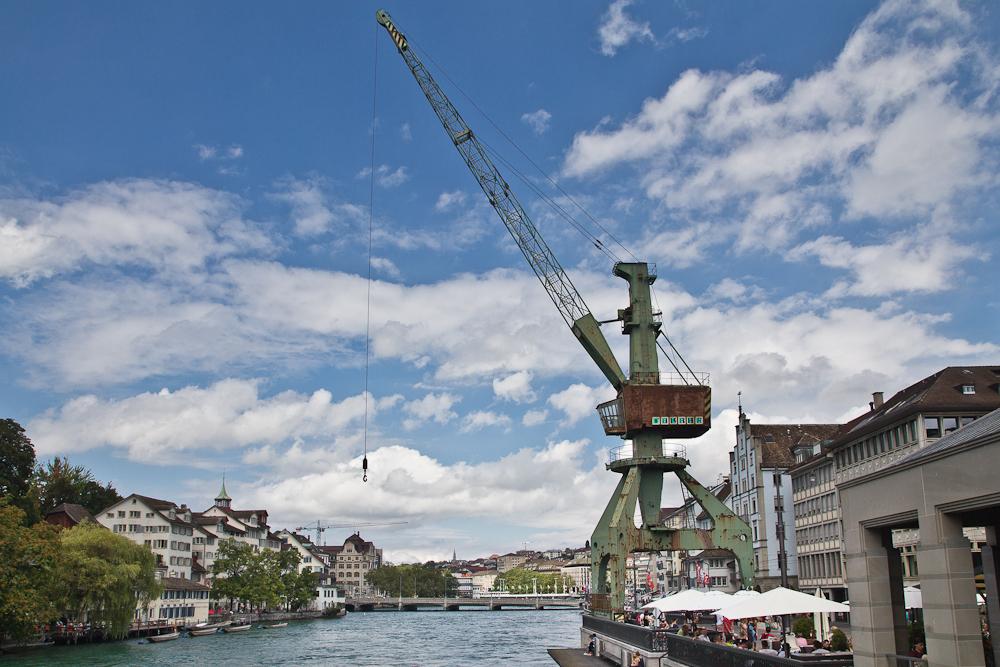 zurich transit maritim crane Hafenkran