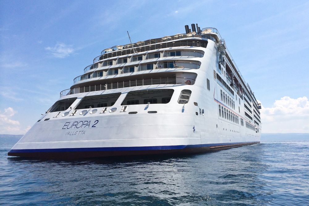 MS Europa 2 Kreuzfahrt Heck Wasser Korčula