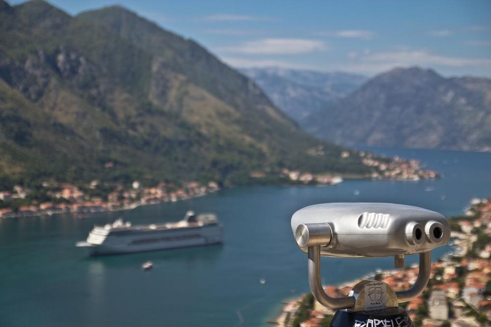 Aussicht Bucht von Kotor, Montenegro