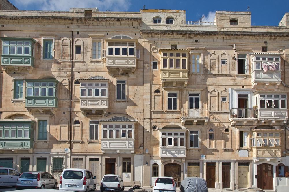 Straße in Malta, Valetta
